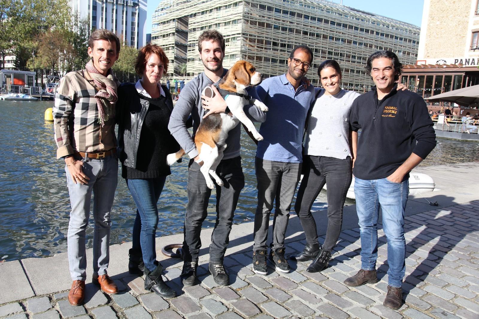 Yoann Latouche, Séverine Paraillous, Thomas Santmann, Noam accompagnés de MJ de Beagle et DavidStrano