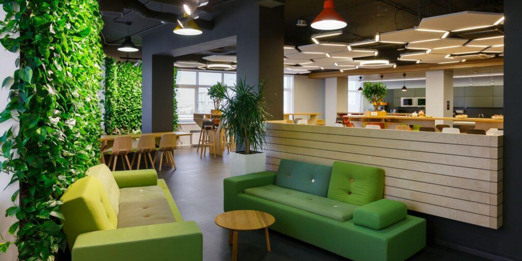 Un espace de réunion green OfficeRiders