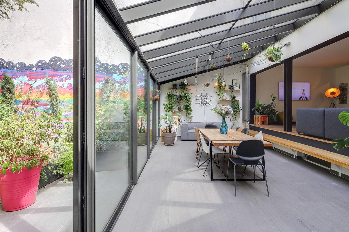 Maison atypique avec jardin 10eme