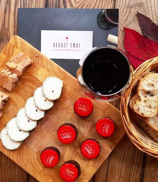 Foie gras, fromage et fondant au chocolat