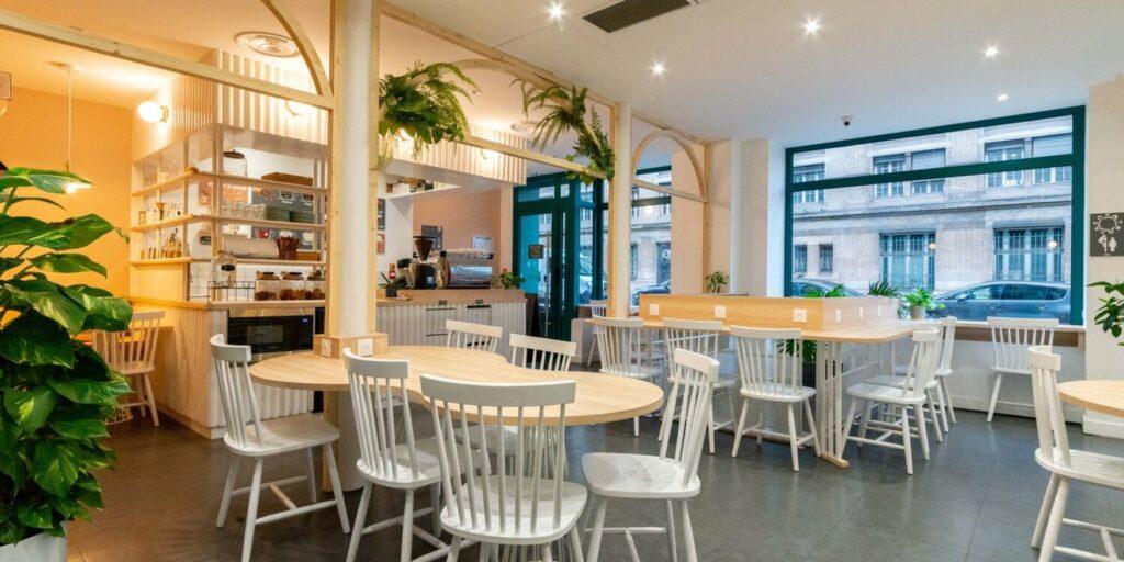 L'espace de travail flexible à Saint-Lazare, Paris.