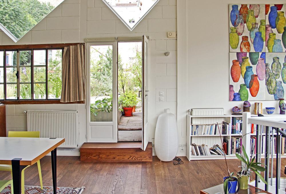 Maison à l'inspiration d'un atelier d'artiste