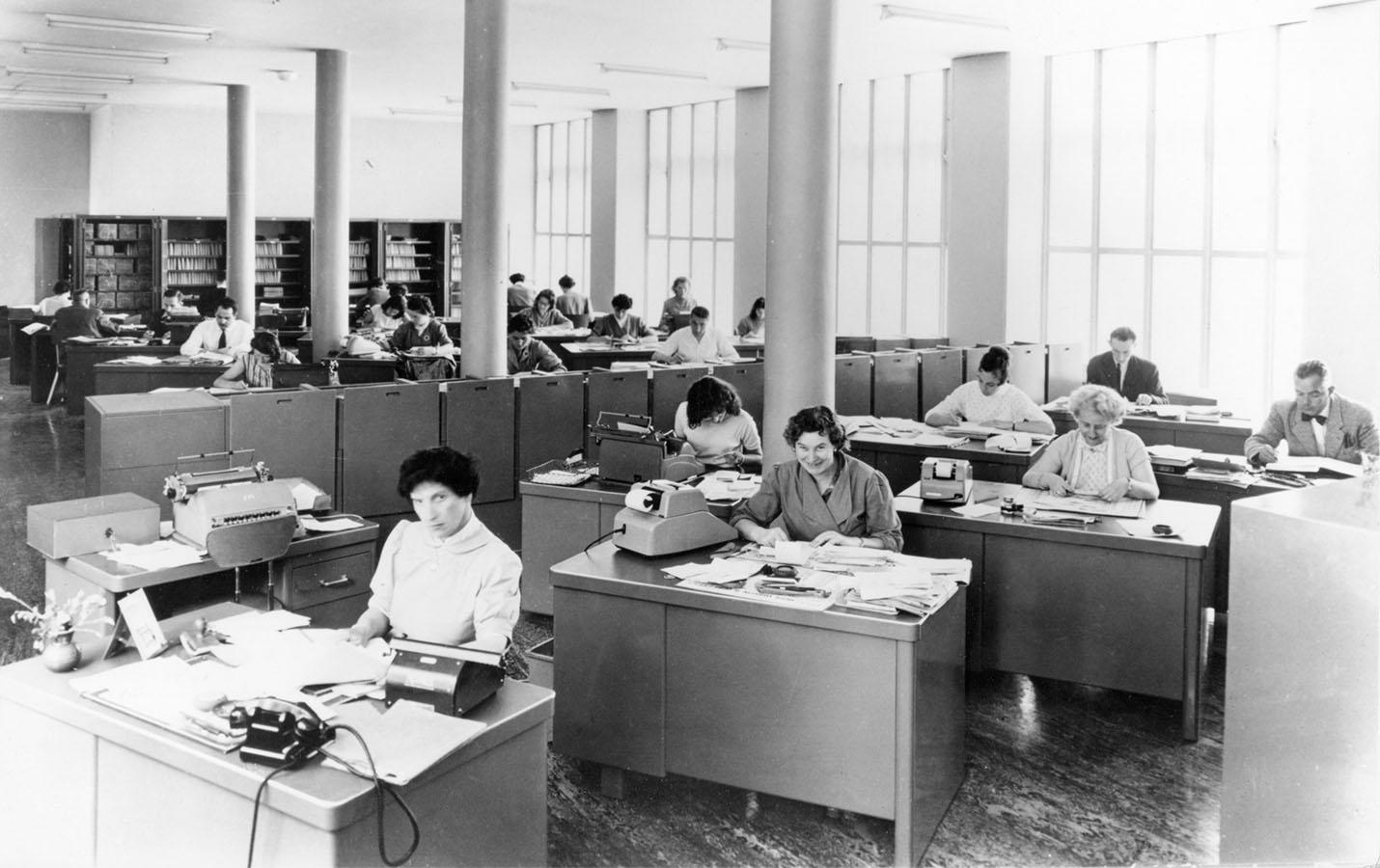 L'open space des années 1950