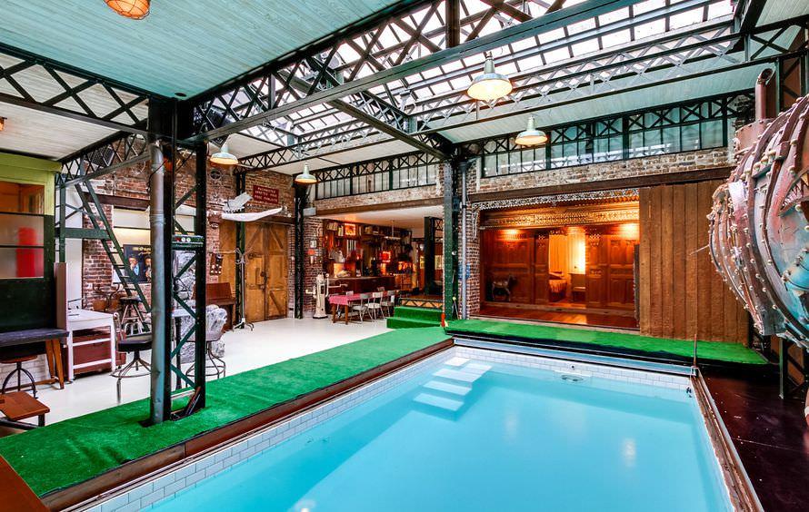 Grand loft atypique avec piscine