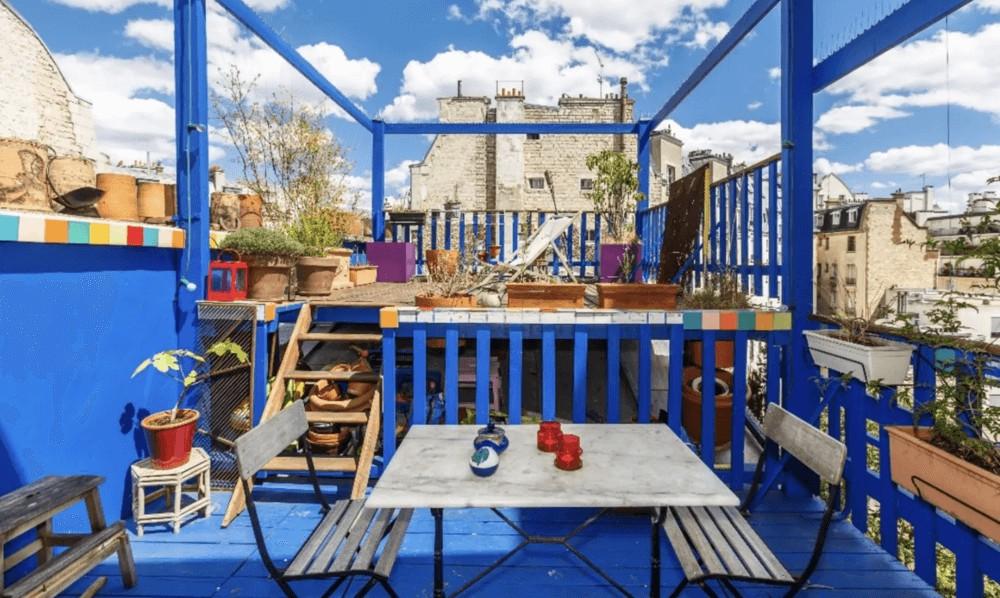 toit-terrasse haut en couleurs