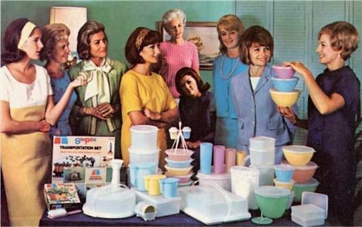 Réunion Tupperware dans les années 50